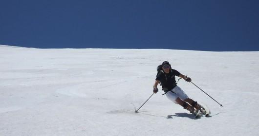 Summer skiing, do not get hurt!