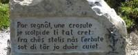 Itinerario dello Jôf di Miezegnot: lapidi dell'ex cimitero di guerra