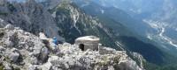 Sempre lungo lo Jôf di Miezegnot: l'osservatorio sulla vetta