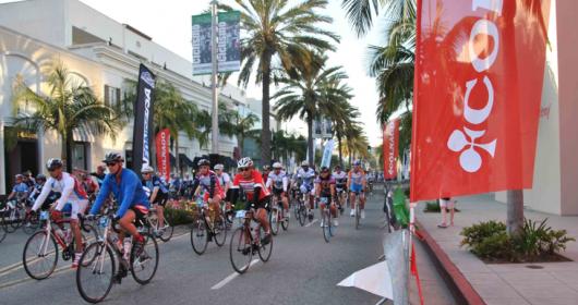 Beverly Hills: bici e tricolore!