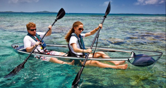 Molokini: lo snorkeling si fa in canoa