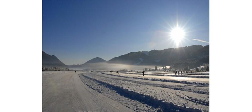 Pattinare sul lago Weissensee